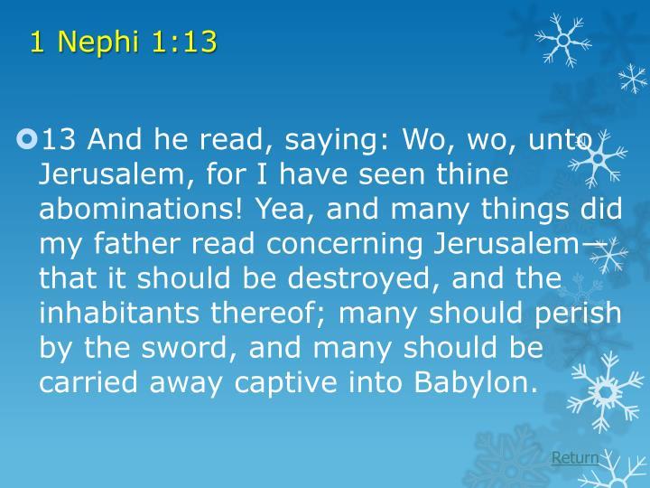 1 Nephi 1:13