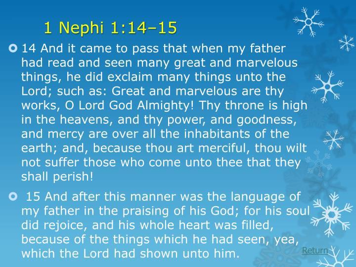 1 Nephi 1:14–15