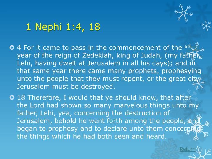 1 Nephi 1:4, 18