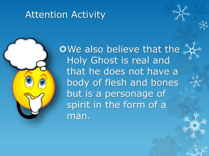 Attention Activity