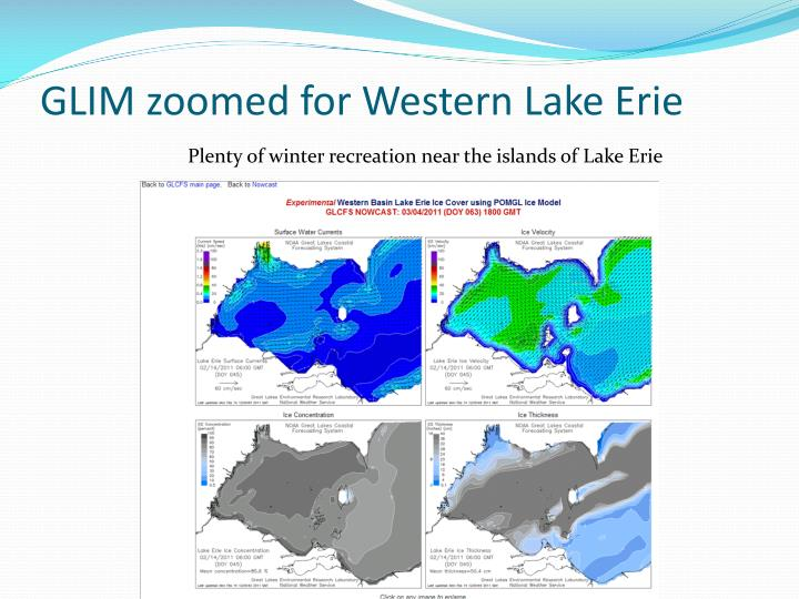 GLIM zoomed for Western Lake Erie