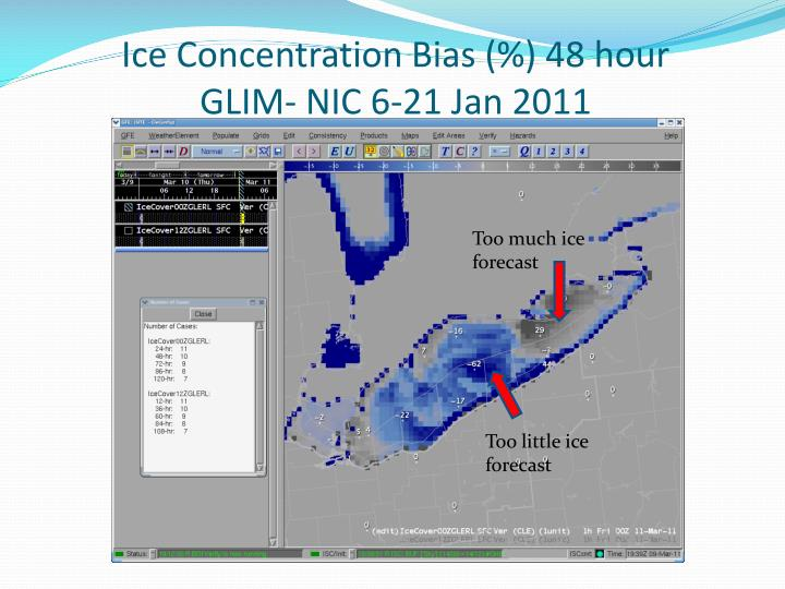 Ice Concentration Bias (%) 48 hour