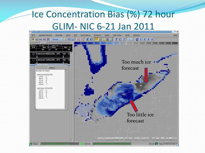 Ice Concentration Bias (%) 72 hour