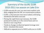 summary of the glerl glim 2010 2011 ice season on lake erie