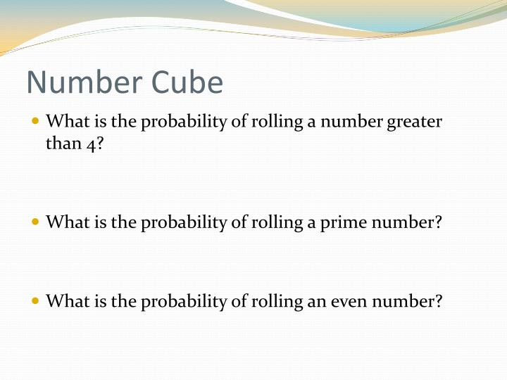 Number Cube