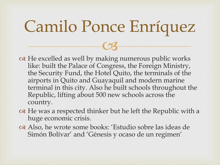 Camilo Ponce Enríquez