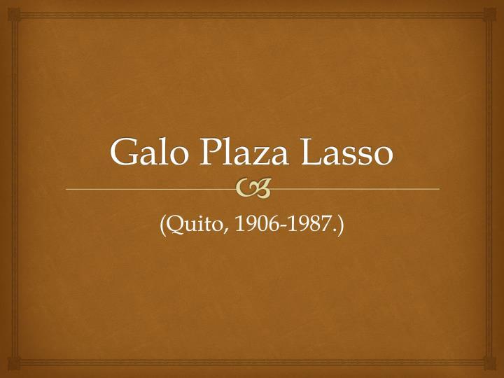 Galo Plaza Lasso