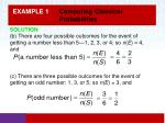 example 1 computing classical probabilities1