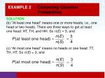 example 2 computing classical probabilities1