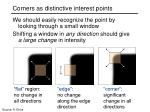 corners as distinctive interest points