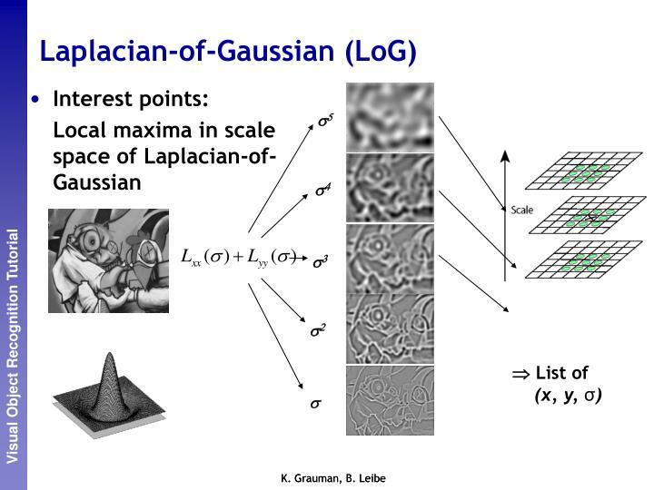 Laplacian-of-Gaussian (LoG)