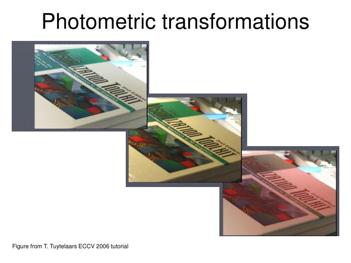 Photometric transformations