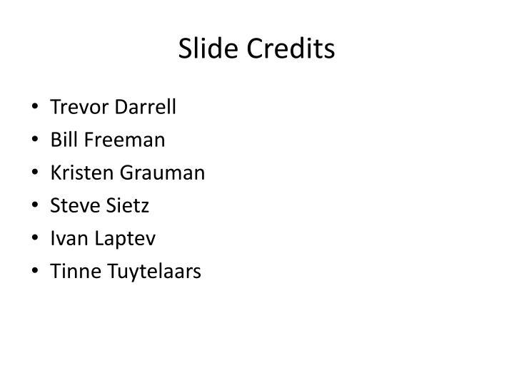 Slide Credits