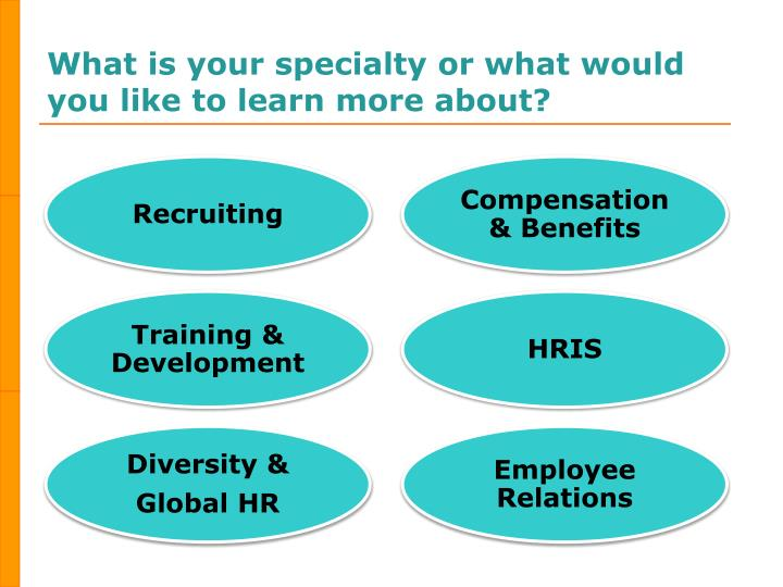 What is your specialty or what would you like to learn more about?