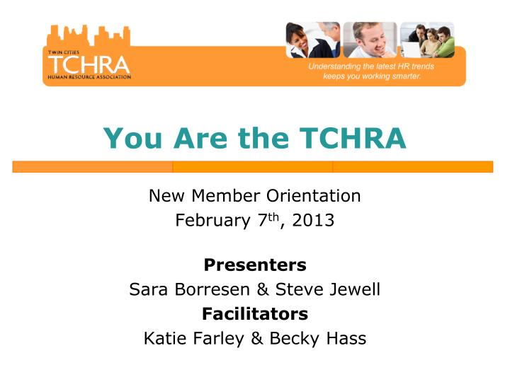 You are the tchra