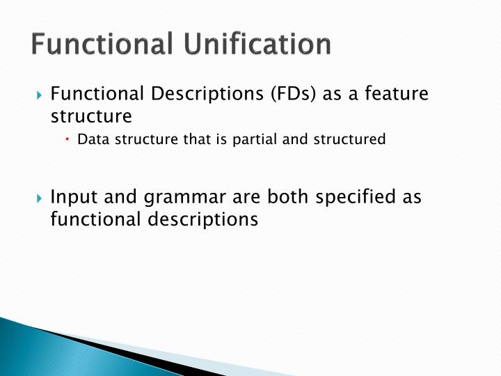 Functional Unification