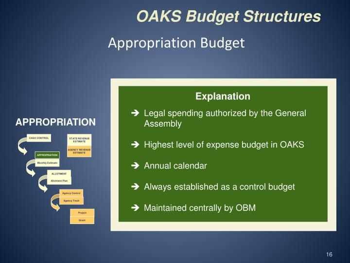 Appropriation Budget
