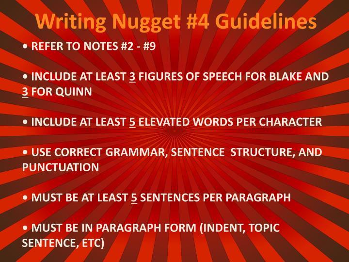 Writing Nugget