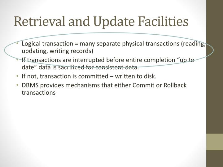 Retrieval and Update Facilities