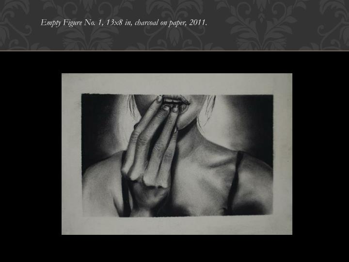Empty Figure No. 1, 13x8 in, charcoal on paper, 2011.