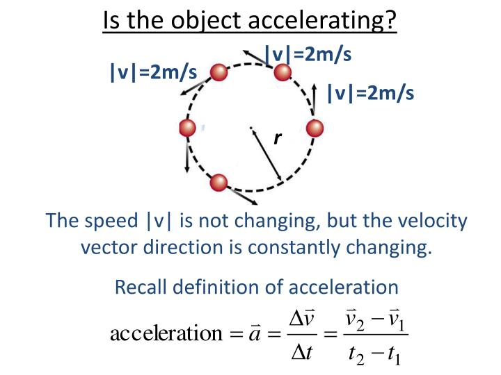 Is the object accelerating?