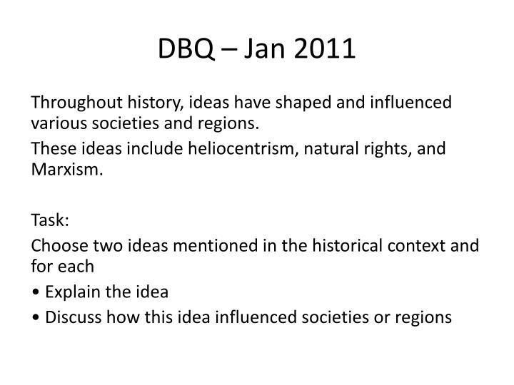 DBQ – Jan 2011