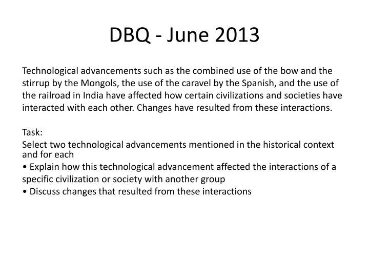 DBQ - June 2013