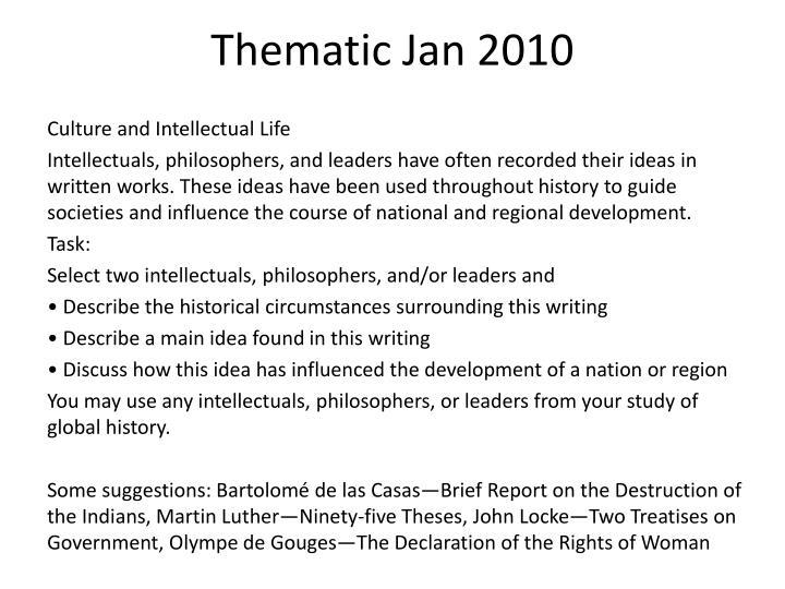 Thematic Jan 2010