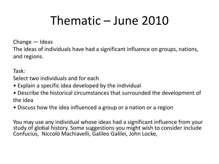 Thematic – June 2010