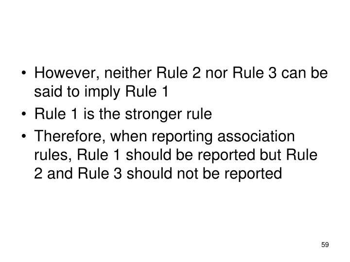 However, neither Rule 2 nor Rule 3 can be said to imply Rule 1