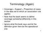 terminology again