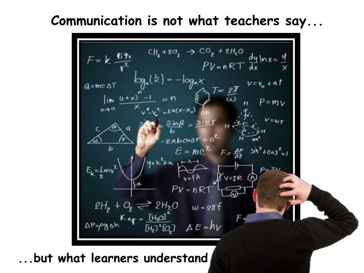 Communication is not what teachers