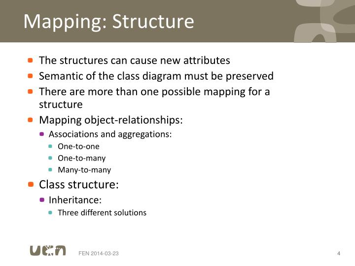 Mapping: Structure