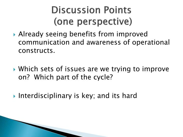 Discussion Points