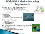 nos noaa marine modeling requirements