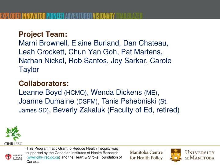 Project Team: