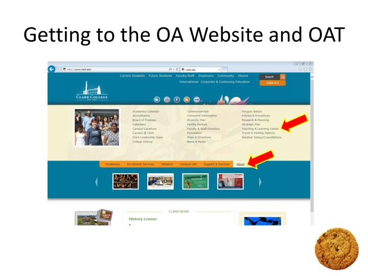 Getting to the OA Website and OAT
