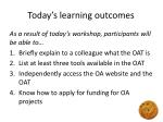 today s learning outcomes