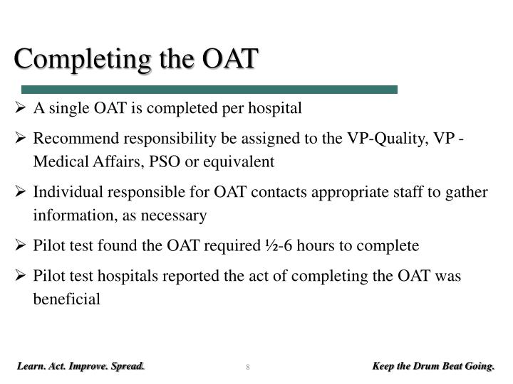 Completing the OAT