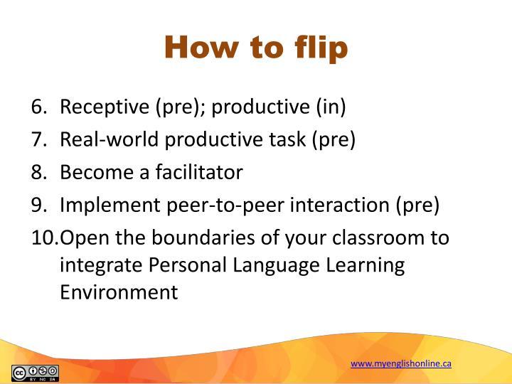 How to flip