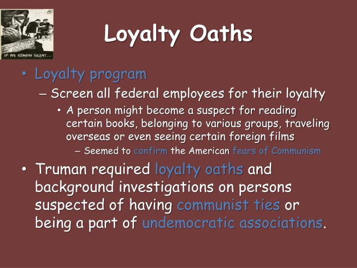 Loyalty Oaths