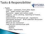tasks responsibilities