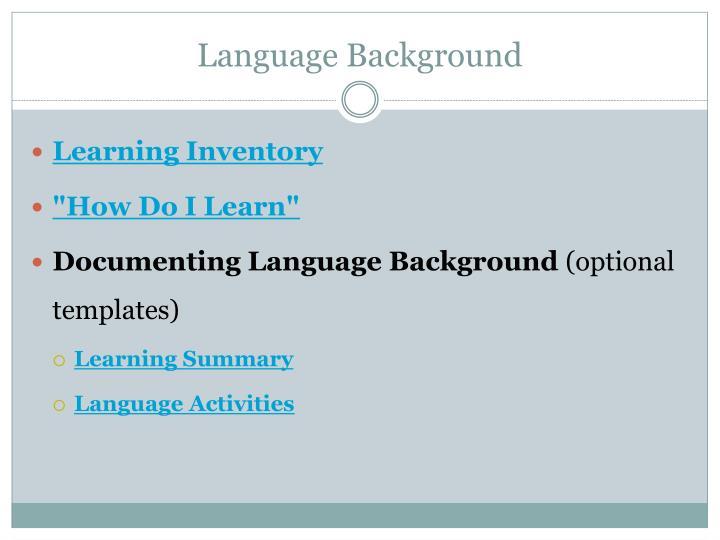 Language Background