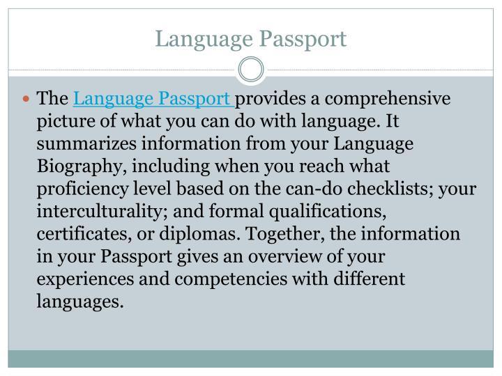 Language Passport