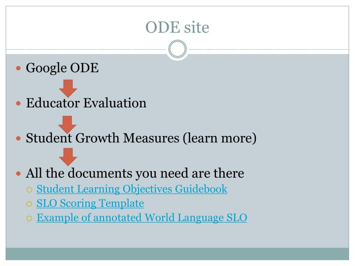 ODE site