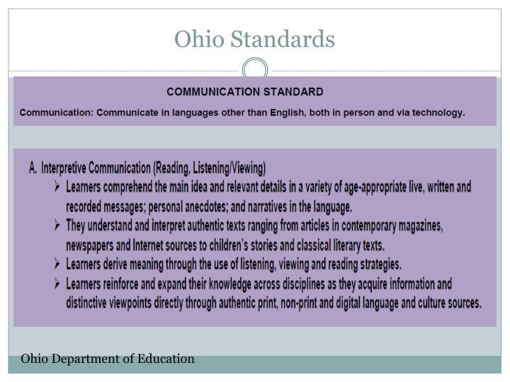 Ohio Standards