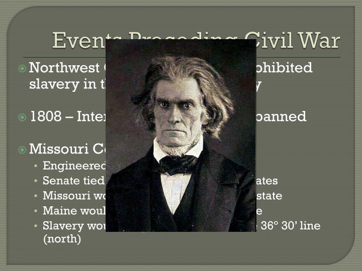 Events Preceding Civil War
