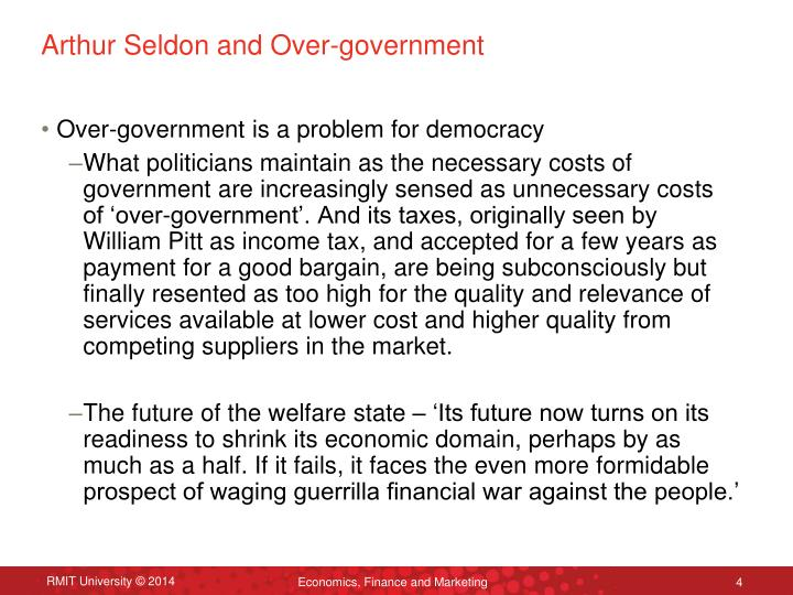 Arthur Seldon and Over-government