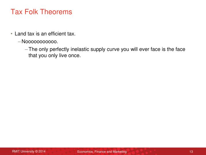 Tax Folk Theorems