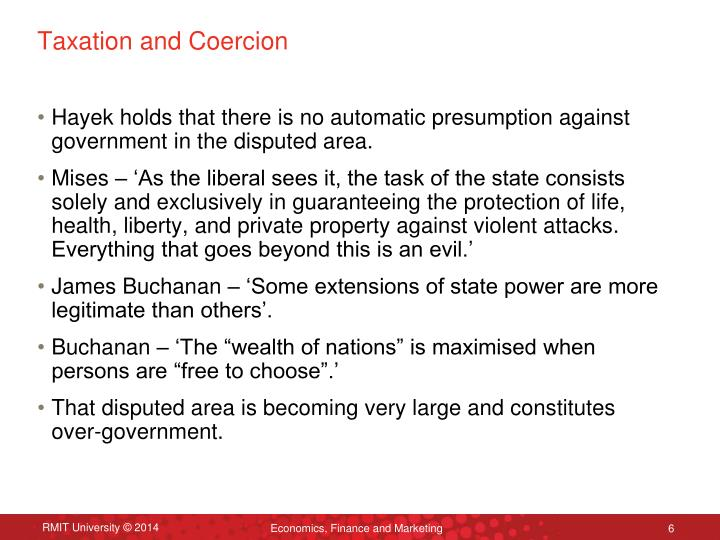 Taxation and Coercion